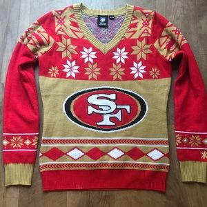 🎄🏈 SAN FRANCISCO 49'S CHRISTMAS SWEATER 🏈🎄